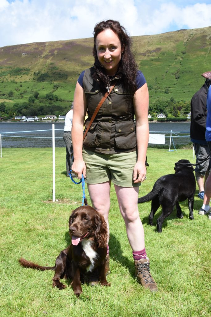 Sarah Beane and Bruce of North Yorkshire were the winners of the pet and owner look-alike competition.