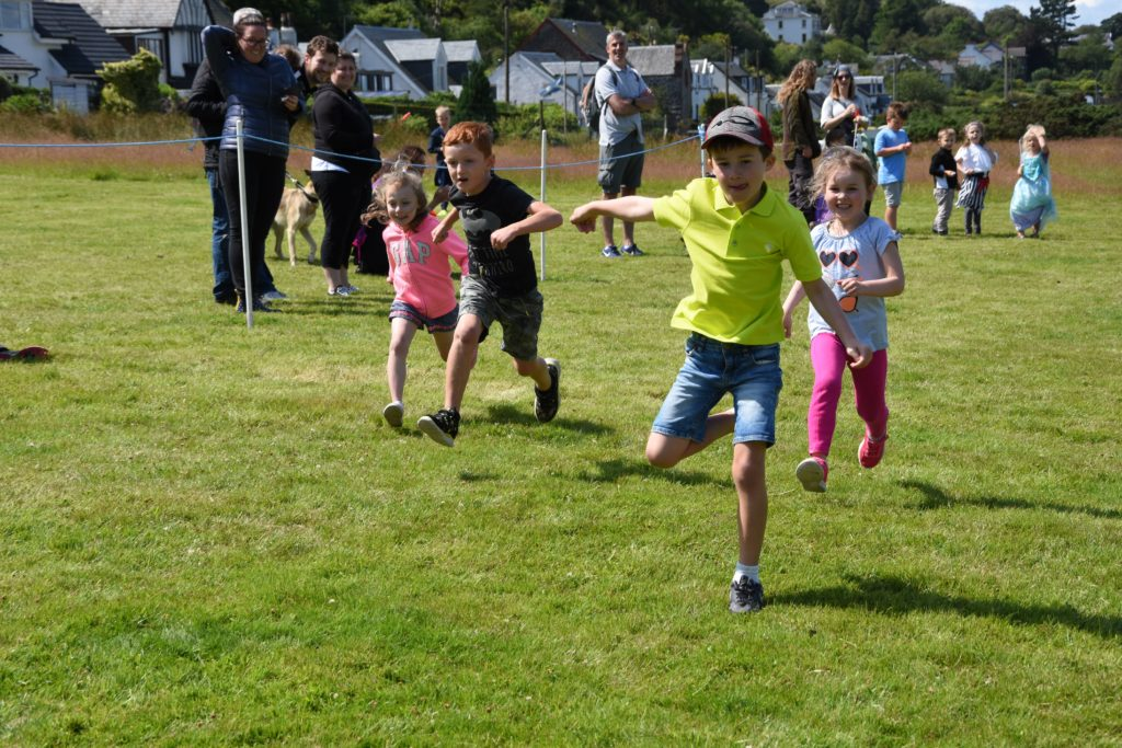 Children's races were a popular event with many children winning prizes for their efforts.