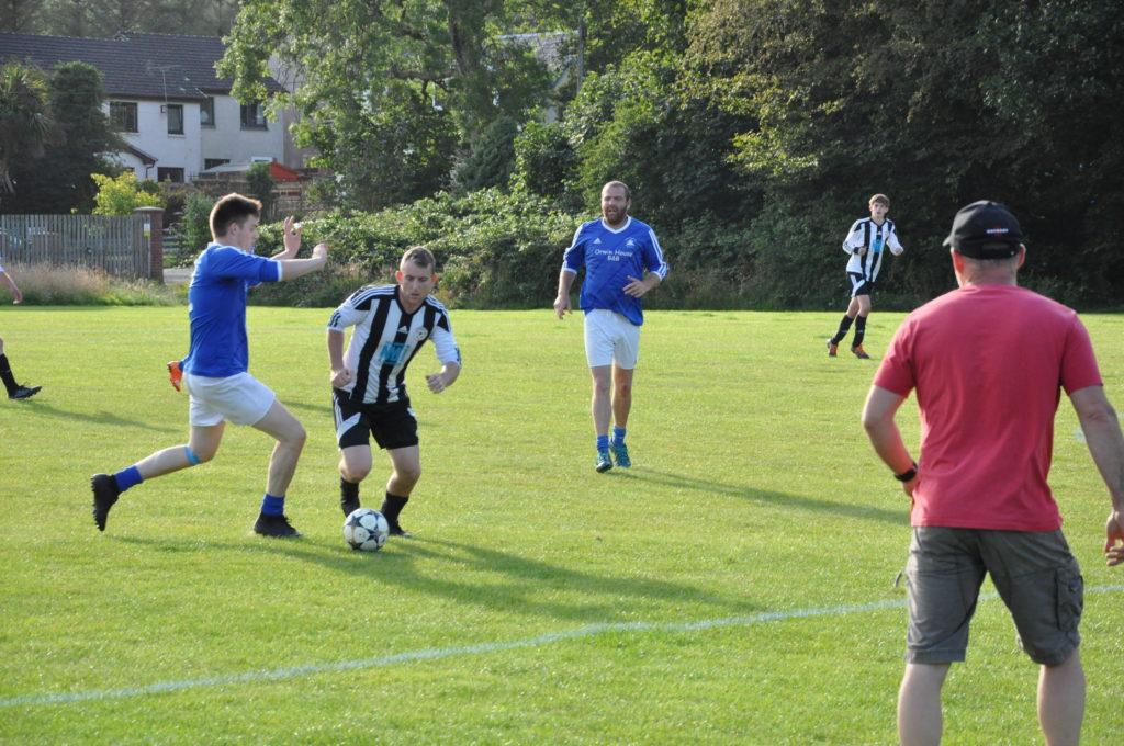 Jamie Sillars on the ball for Lamlash