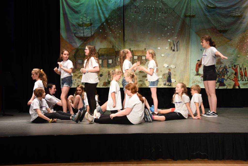 Drama pupils put on an entertaining performance depicting scenes of the Highland Clearances.