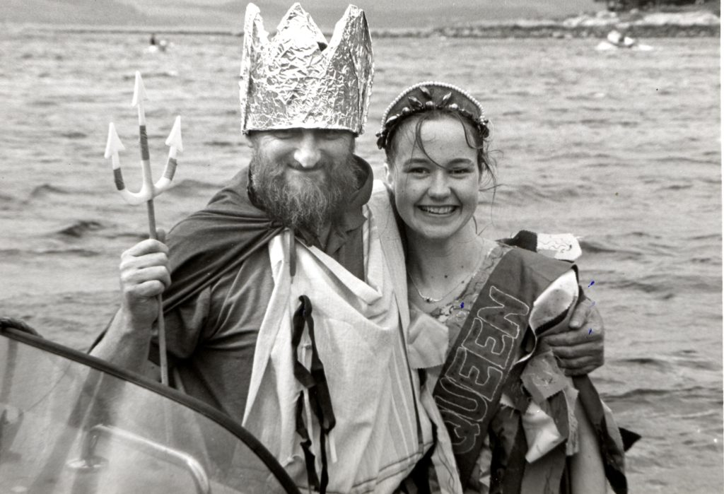 Neptune and his Sea Queen at the Lochranza Gala Weekend - Raymond Jeffries and Debbie Simpson.
