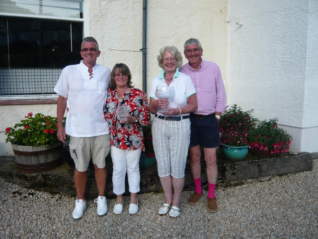 Island Mixed Fours winners at Lamlash were: Paul Cowan and Kate McAdam - scratch winners and Yvonne and Stan Brothers - overall winners.
