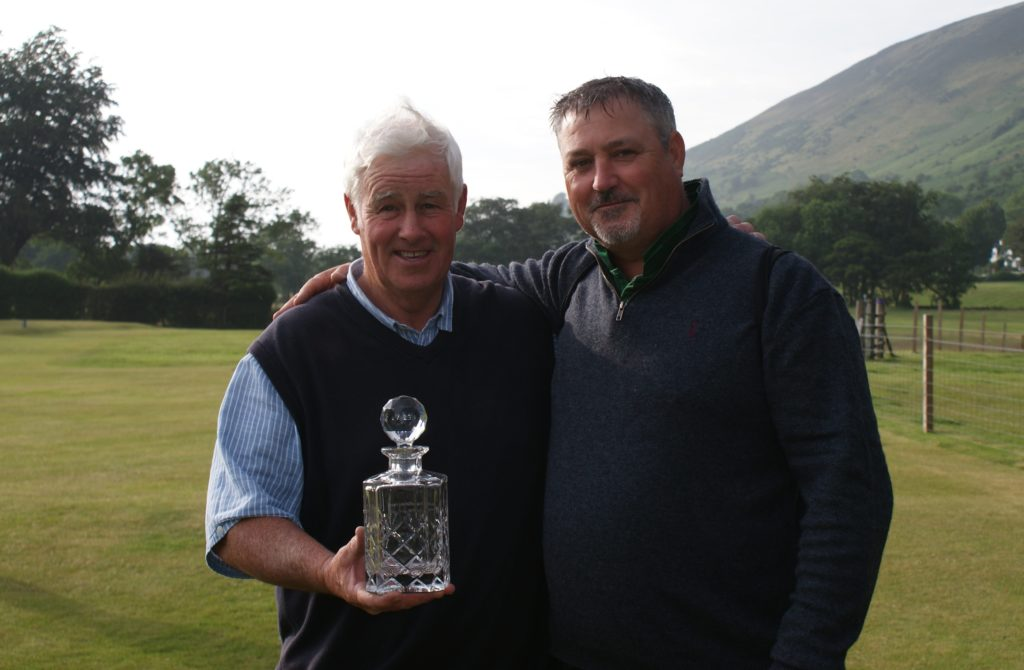 Donald Logan received the Dougie Macfarlane award for outstanding contribution to Arran golf. Donald has kept Lochranza Castle Golf Club going and he was also AGA president for eight years and vice-president for nine years.
