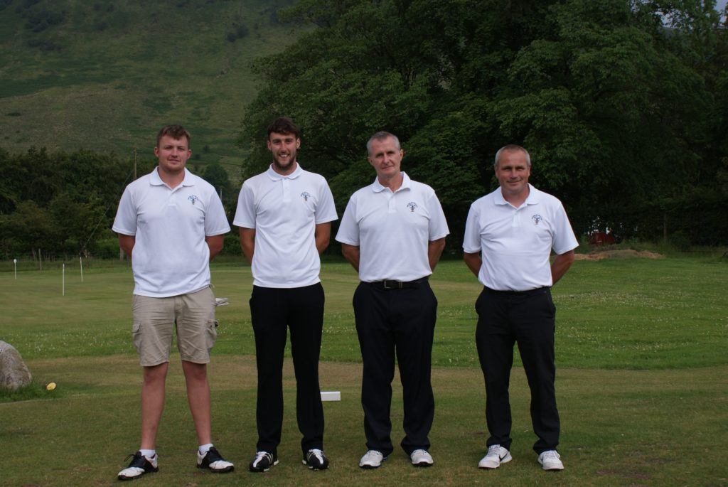 Danny Head, Ryan Armstrong, Nicol Auld and Jamie Macpherson represented Whiting Bay Golf Club at the Hope Cup.