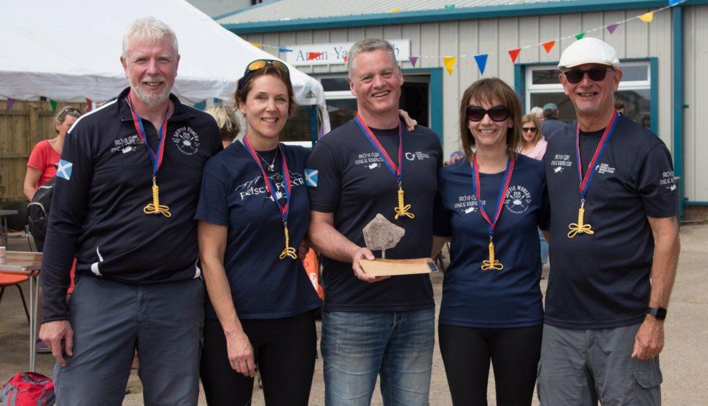Hamilton Rock Trophy winners, the Firth of Clyde Coastal Rowing Club.