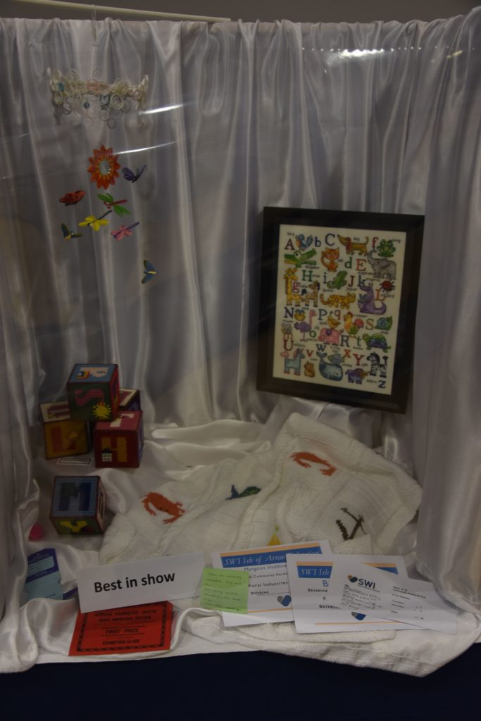 Shiskine won the Best in Show with this exhibit of four items with the theme of In the Nursery.