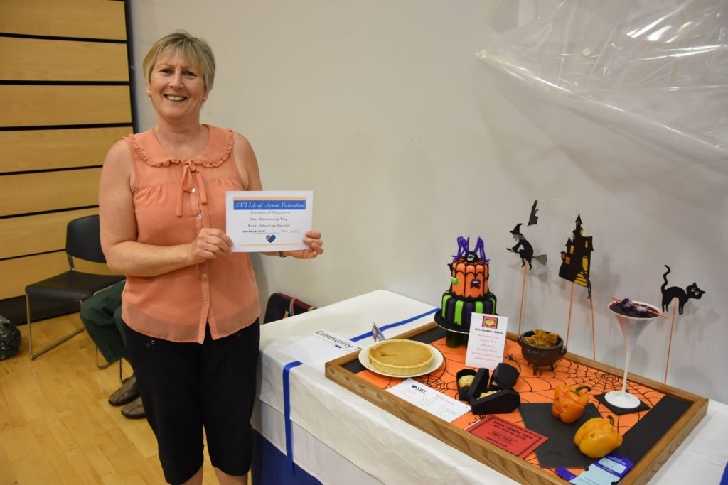 Evelyn Hamilton contributed to the first place community tray which was based on the theme of Halloween.