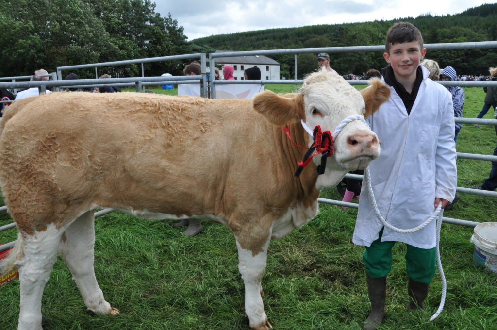 Best young cattle stockman Donald Currie Jnr  of Bellevue Farm, Blackwaterfoot.