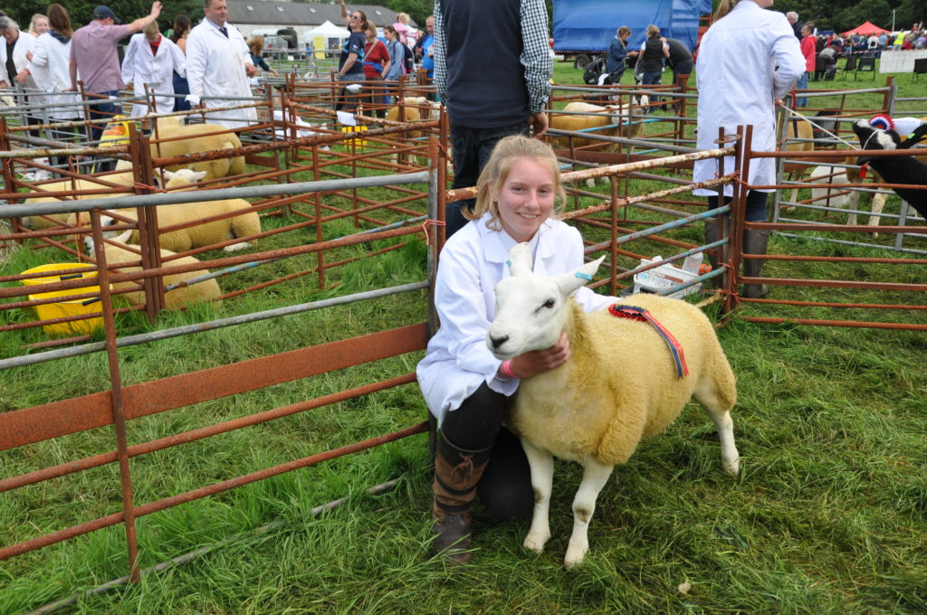 Amelia Robertson who won both the young sheep handler and overall best stockhandler prizes.