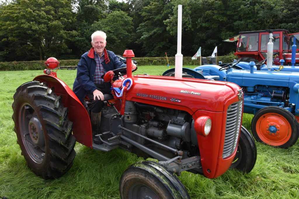 Lex Craig of Tarbolton took the best in show prize with his 45hp 1963 Massey Ferguson.