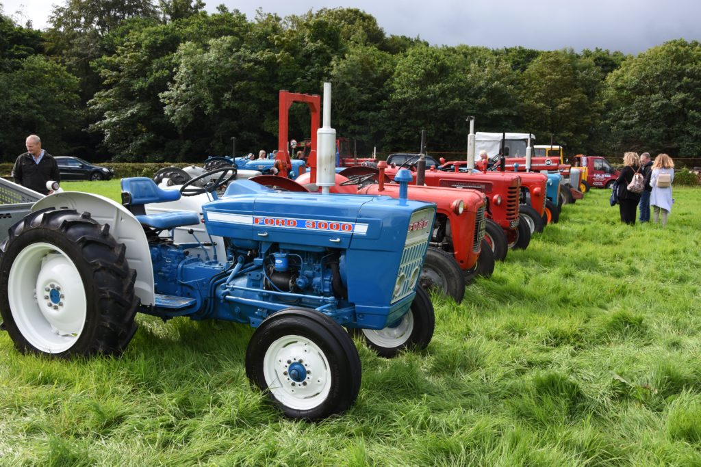 An exciting array of tractors, from pre to post war examples, were on display for visitors to browse.