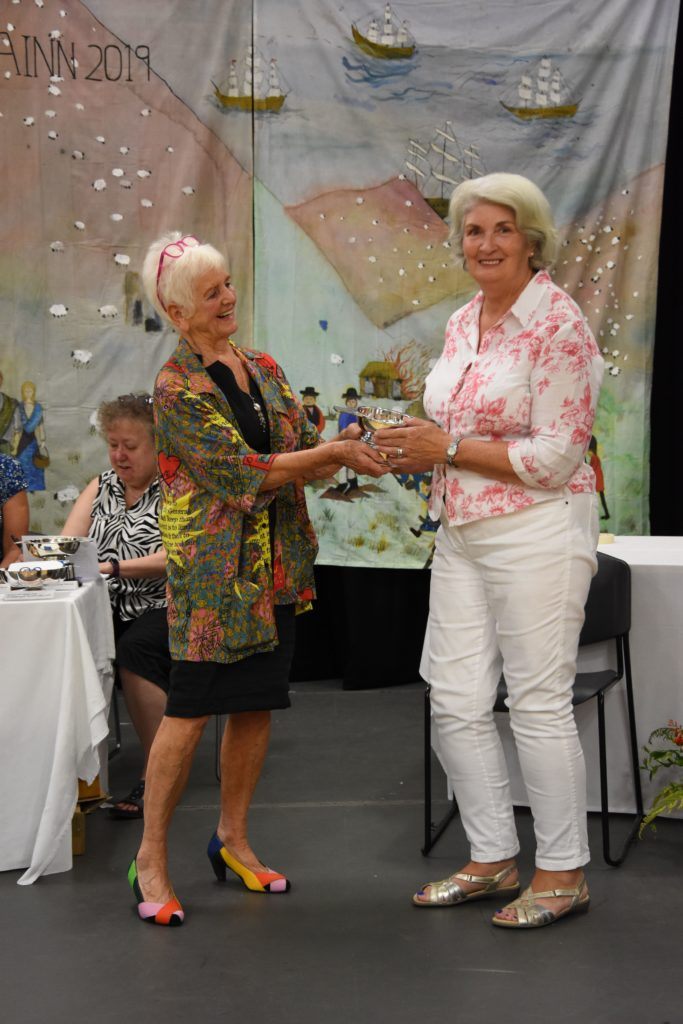 Alison Thompson was the winner of the new Quilt Arran Quaich for most points in the quilting section.