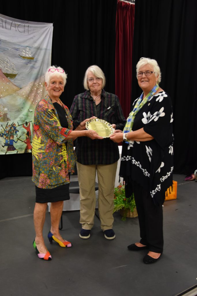 Anne Pringle and Jenny Harper shared the trophy for gaining the most points in the preserves and wine section.