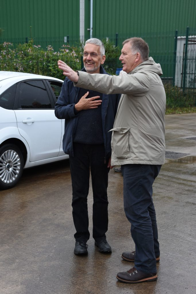 Councillor Timothy Billings who happened to be making use of the HWRC site took the opportunity to make a few improvement suggestions to HWRC supervisor Jake Elliott.