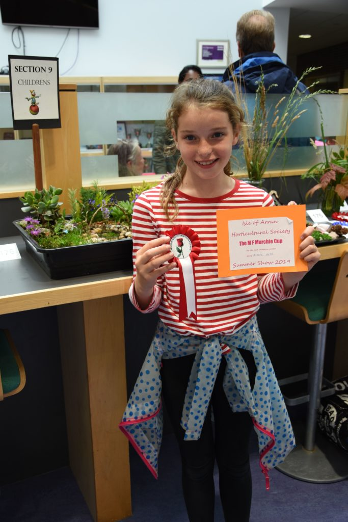 Kirsty Hume impressed the judges and earned herself the MF Murchie Cup for her amazingly detailed miniature garden.