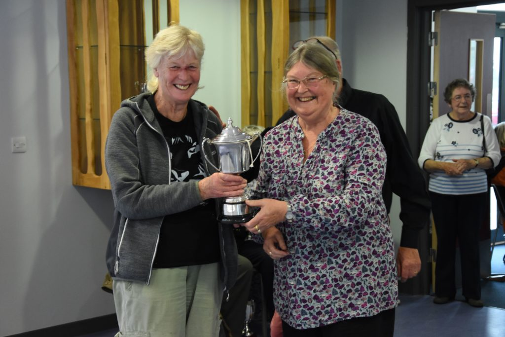Winner of the most prizes in the horticultural section, Sally Brookes with the Millennium Trophy.