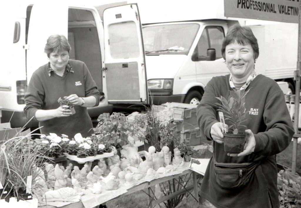 Selling plants and garden gnomes are the ladies from the shop Bay Tree of Whiting Bay. Owners Roslyn Whincup and Sue McGreevy have attended every one of the village 'weeks' this summer.