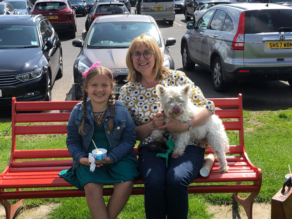 Competition winner Hari visited Arran and met with author Alison Page and Corrie.