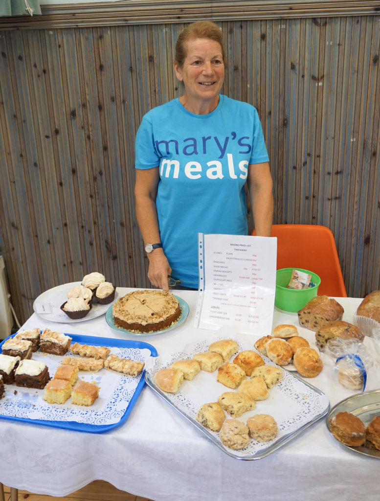On offer for visitors was a feast of scones, pancakes, fruit loaves and sponge cake.