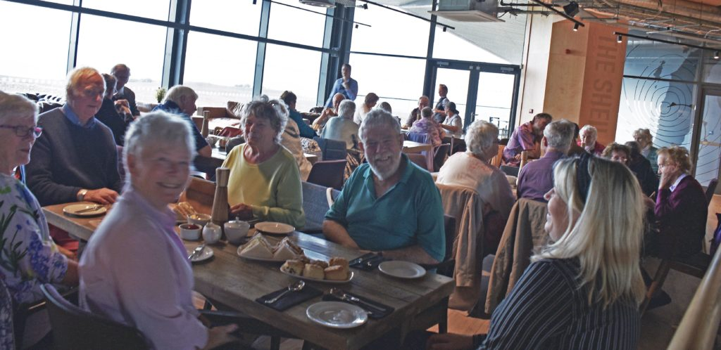 Forum members enjoy a meal at The Sheiling Restaurant.