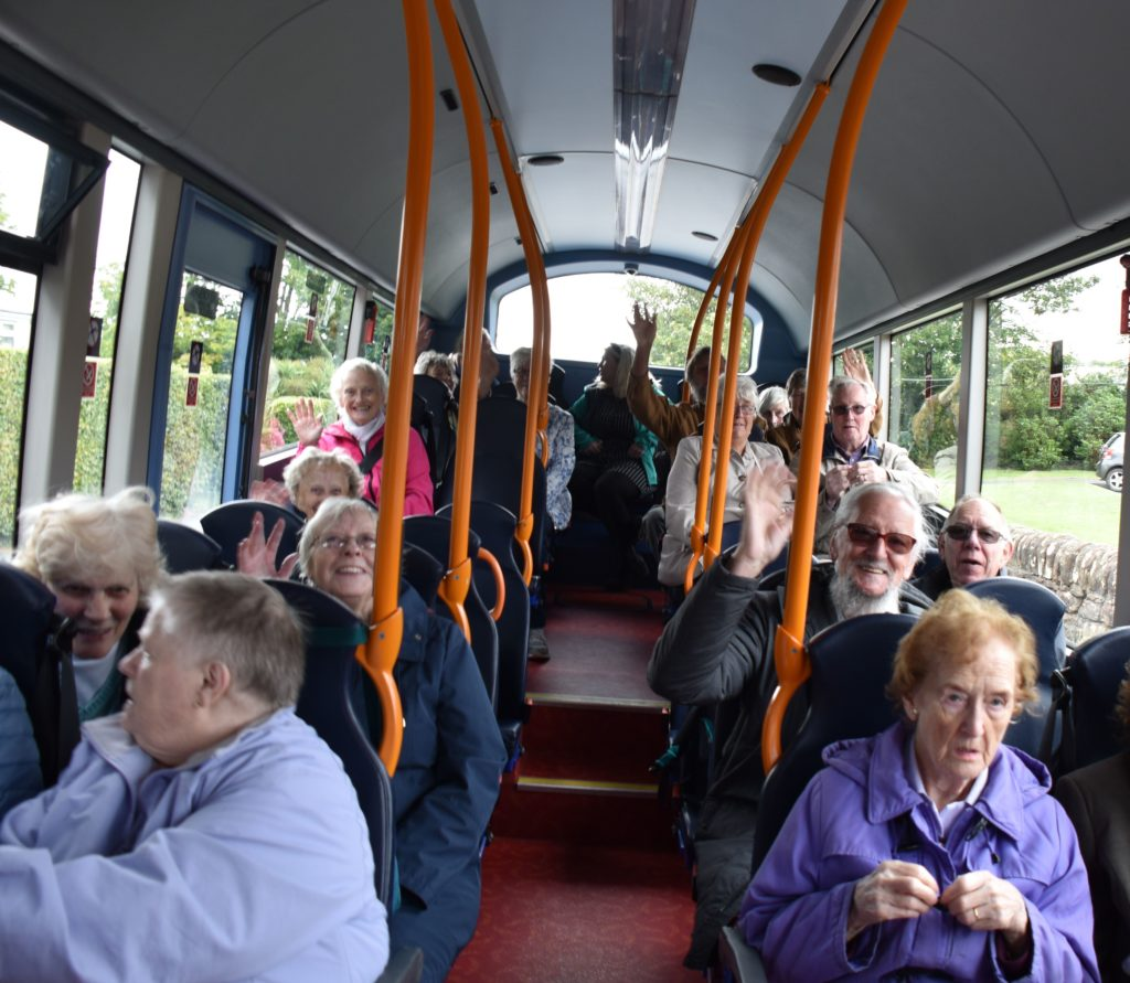 The bus ride was made enjoyable with the knowledgeable commentary from Stuart Gough.