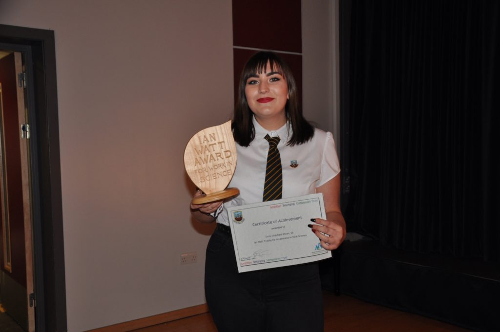 Ian Watt Trophy for Science in the serious phase Daisy Urquhart-Dixon.