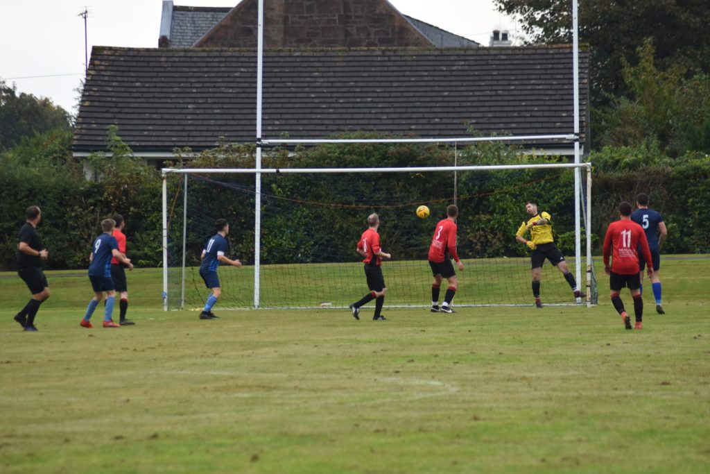 The one that got away, Dave Heenan looks on as the ball angles its way into the net.