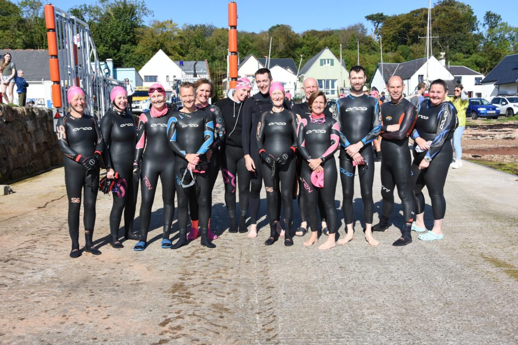 A total of 13 local swimmers took part this year.