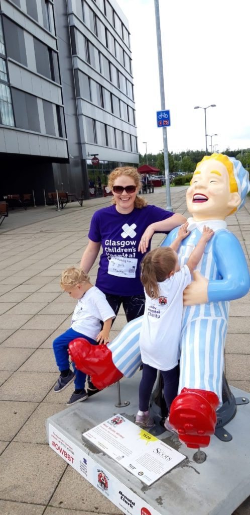 Maisie and Jack take part in the Oor Wullie challenge.
