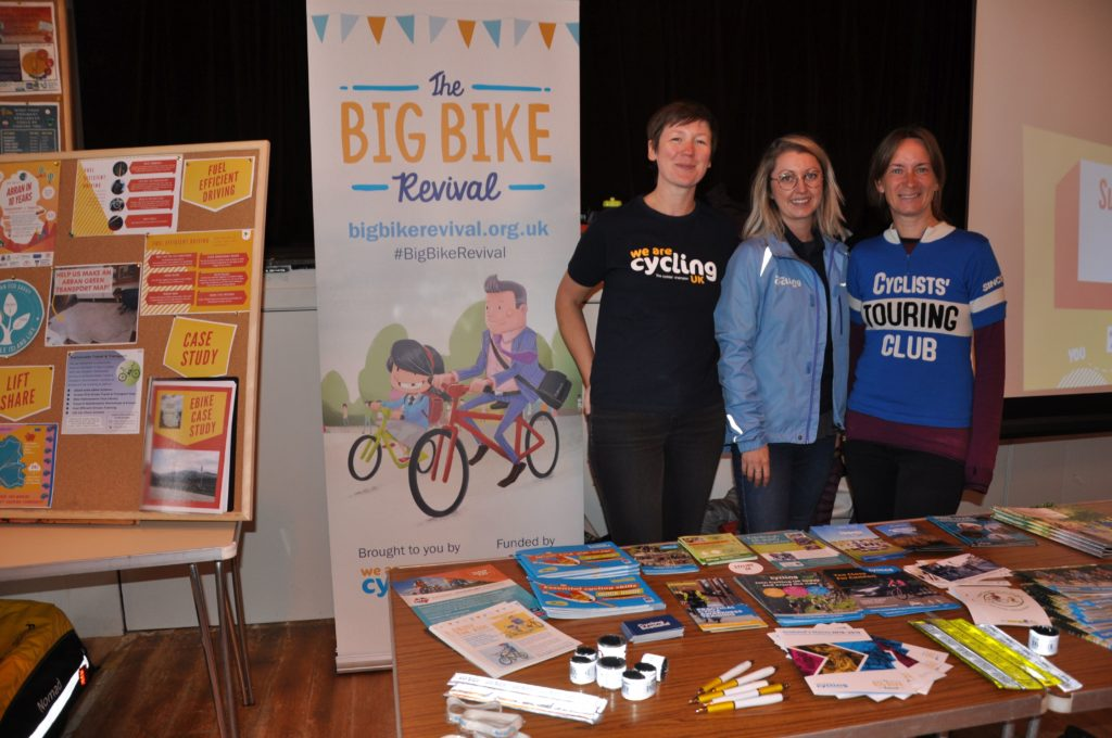 The Cycling UK team at the event.