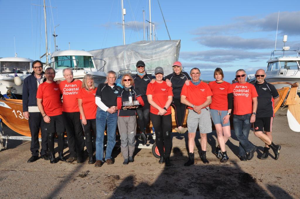 The Arran Coastal Rowinfg Club members who organised the day.