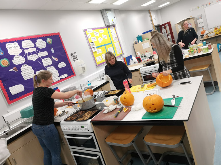 Visitors used the remains of their pumpkins to make a number of tasty pumpkin dishes.