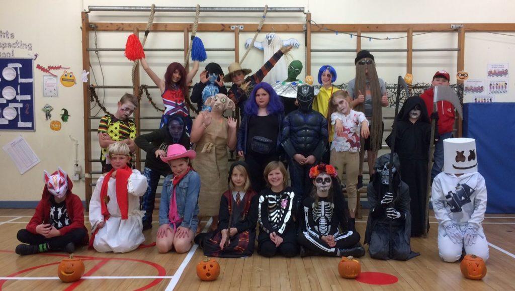 Brodick Primary School P5 to P7 pupils.