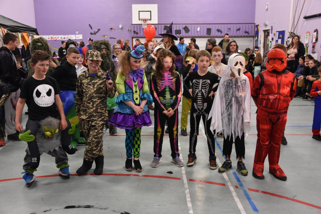 Bright and colourful was the theme for some of these Lamlash P5 pupils.
