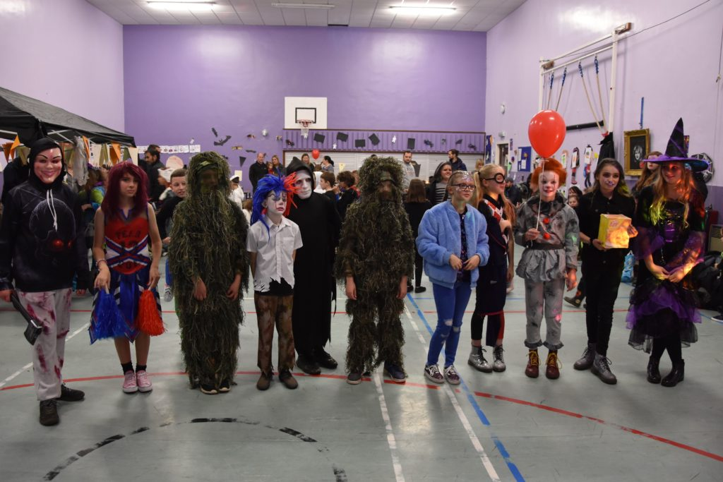 From traditional witches to scary clowns and Swamp Thing, Lamlash P7 pupils came dressed as their favourite characters.