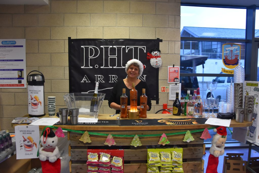 Jane Howe of the PHT, and one of the organisers, provided visitors with spiced mulled wine and a selection of drinks.