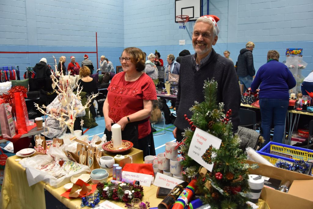 Timothy Billings of Lamlash Improvements at his stall selling festive decorations.