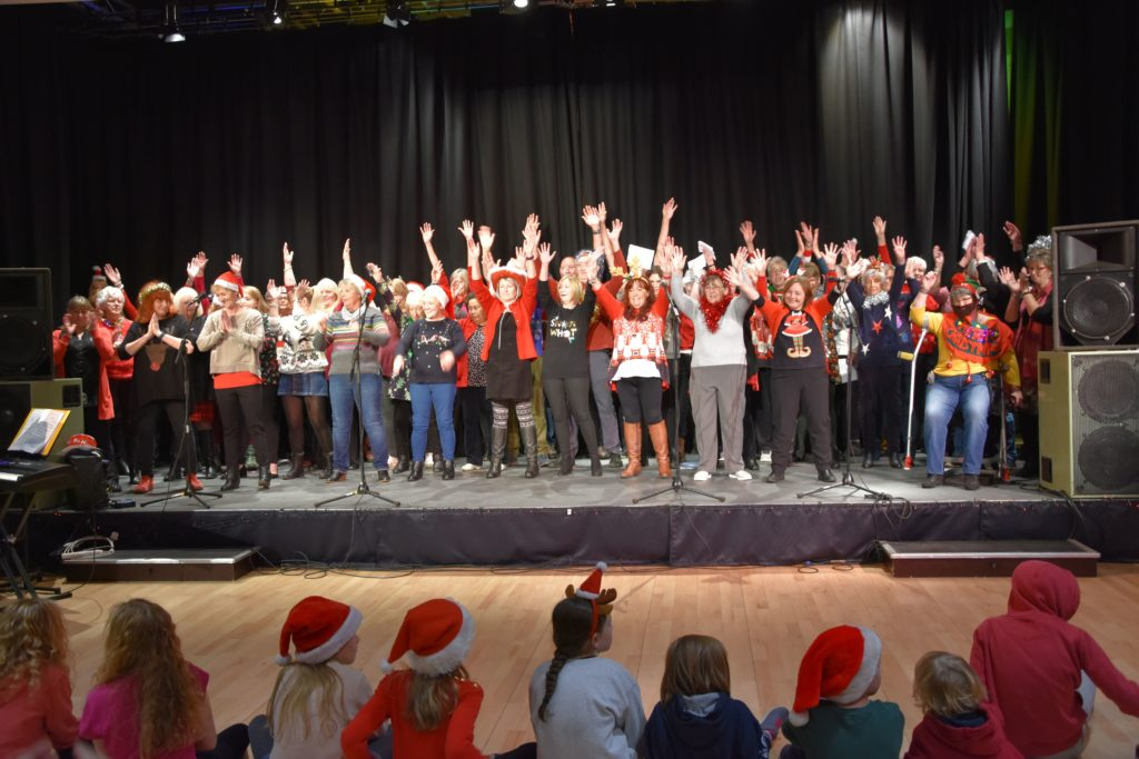 The Arran Soul Choir set the mood with a number of festive songs