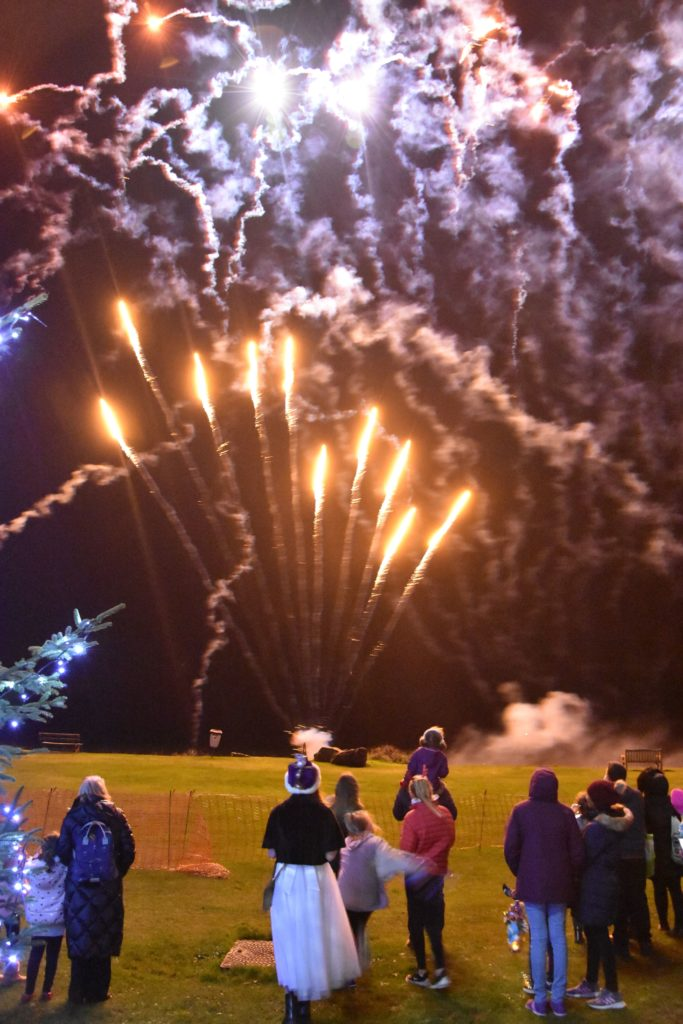 Visitors who braved the cold enjoyed a spectacular firework display.