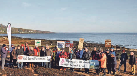 Protesters oppose fish farm expansion plans