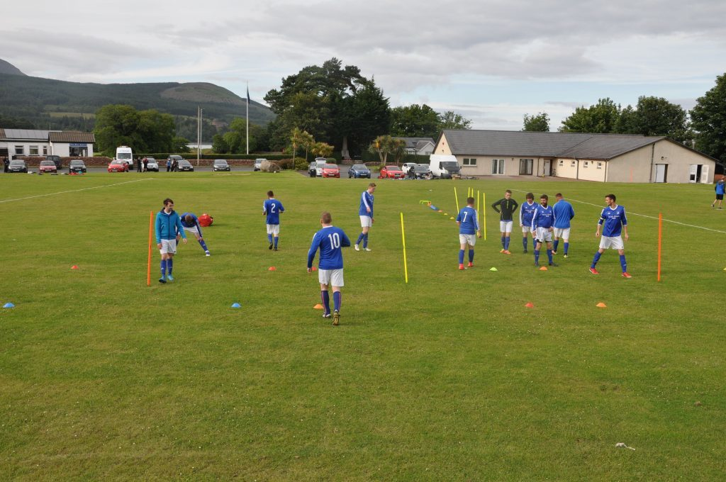 Tempers flare at Arran old rivals match