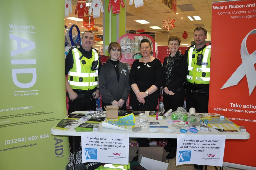 White Ribbon campaign visits Arran