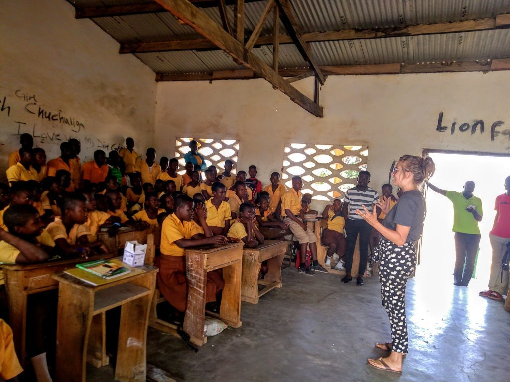 Arran volunteer home after 'changing lives' in Ghana