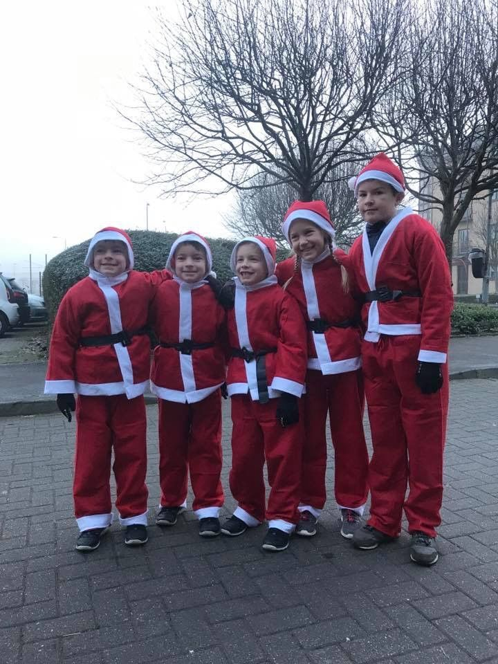 Festive five in Santa fun run