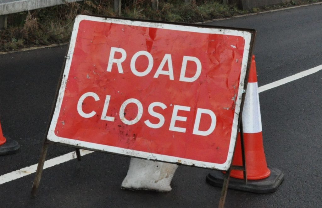 Roadwork closures