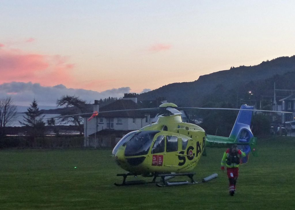 Air ambulance in New Year's Day callout