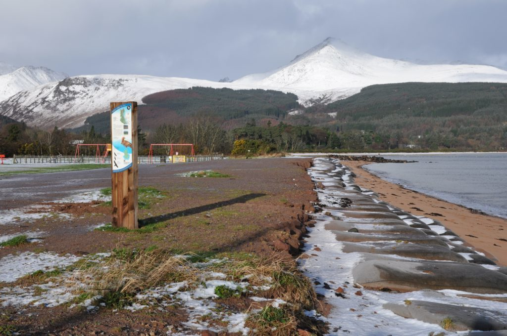 Arran is given a 30-year coastal erosion warning