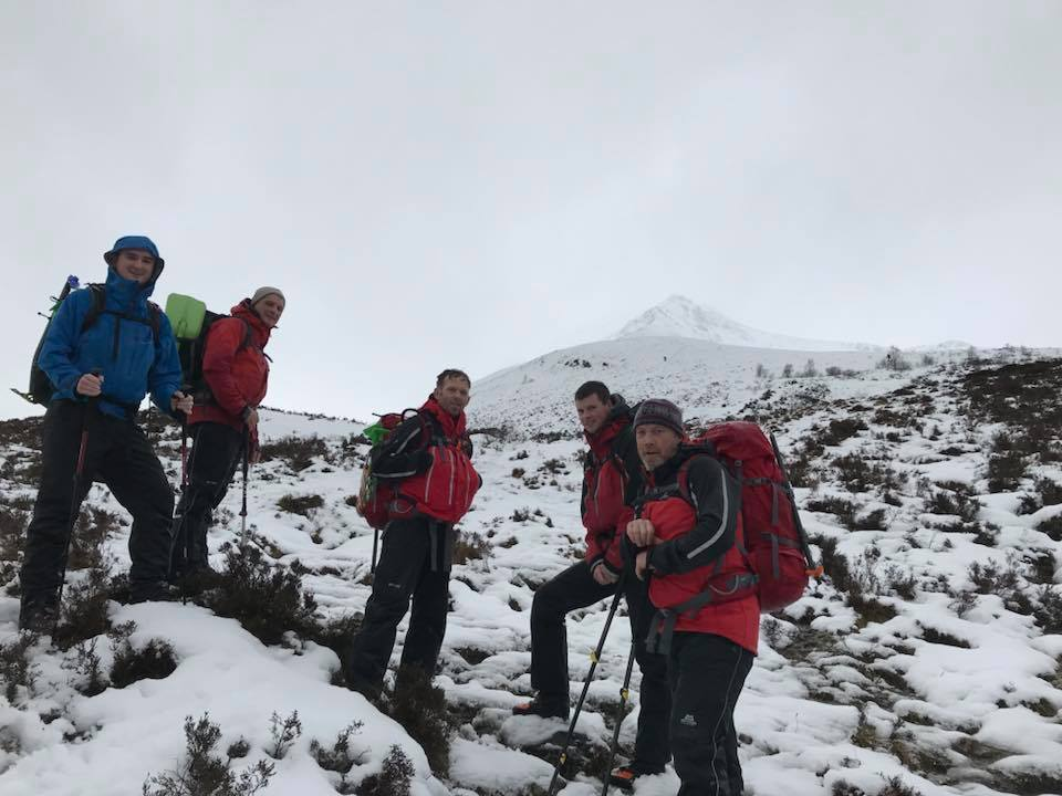 Rescuers enjoy winter training in Glencoe