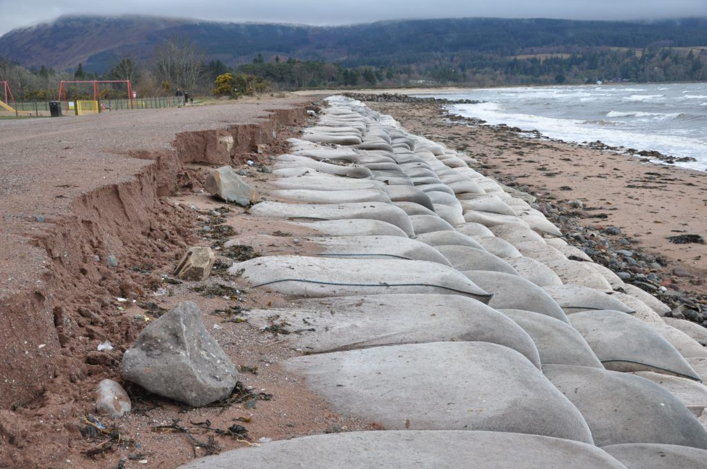 Brodick beach gets beast of a battering