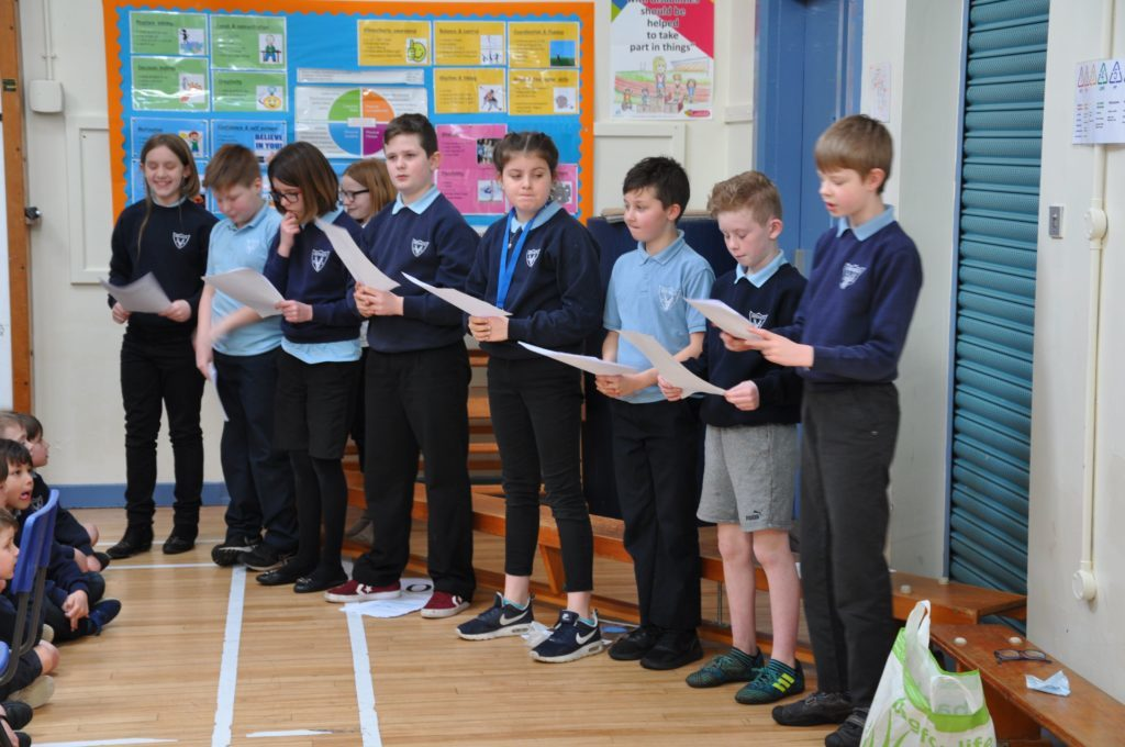 Brodick pupils present case to reduce waste